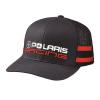 Unisex Adjustable Mesh Snapback Classic Racing Hat with White Polaris® Logo, Navy - Image 1 de 1