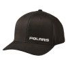 Men's Adjustable Snapback Hat with White Logo, Black - Image 1 de 1