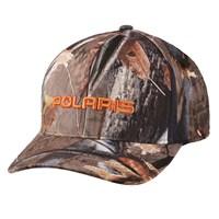 Men's Snapback Hat with Orange Logo, Camo