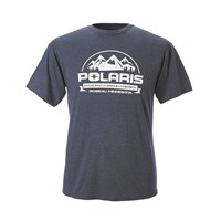 Men's Short-Sleeve Roseau Graphic Tee with Logo, Heather Blue