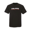 Men's Short-Sleeve Race Tee with Logo, Black - Image 2 de 2