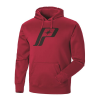 Men's Retro Hoodie with Logo, Red - Image 2 of 5
