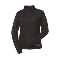 Women's Full-Zip Tech Jacket with Blue Polaris® Logo, Black