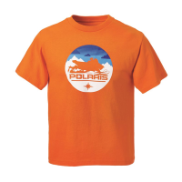 Youth Sled Circle Graphic T-Shirt with Polaris® Logo, Orange