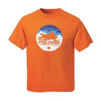 Youth Sled Circle Graphic T-Shirt with Polaris® Logo, Orange