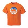 Youth Sled Circle Graphic T-Shirt with Polaris® Logo, Orange - Image 2 of 2