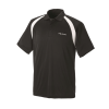 Men's Short-Sleeve Classic Core Polo with White Logo, Black - Image 1 of 2