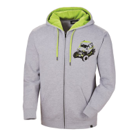 Men's Full-Zip Sketch Hoodie Sweatshirt with RZR® Graphic, Gray/Lime