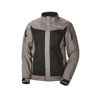 Women's Riding Jacket with Blue Polaris® Logo, Gray/Black