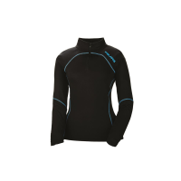 Women's Tech 1/4 Zip - Black/Blue