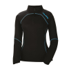 Women's Long-Sleeve Quarter-Zip Pullover with Blue Polaris® Logo, Black - Image 1 of 3