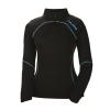 Women's Long-Sleeve Quarter-Zip Pullover with Blue Polaris® Logo, Black - Image 1 of 3