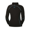 Women's Long-Sleeve Quarter-Zip Pullover with Blue Polaris® Logo, Black - Image 2 of 3