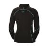 Women's Long-Sleeve Quarter-Zip Pullover with Blue Polaris® Logo, Black - Image 2 of 3