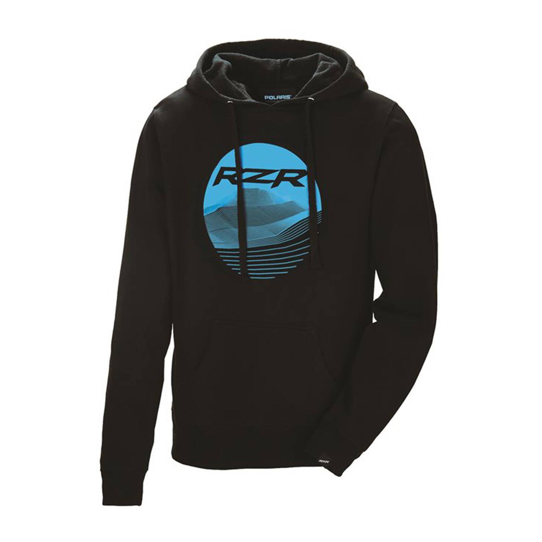 Women's Dune Scape Hoodie Sweatshirt with RZR® Graphic, Black/Blue