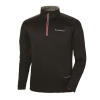Men's Long-Sleeve Poly Tech Fleece Quarter-Zip Pullover with Slingshot® Logo, Black - Image 1 of 2