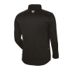 Men's Long-Sleeve Poly Tech Fleece Quarter-Zip Pullover with Slingshot® Logo, Black - Image 2 of 2