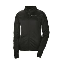 Women's Long-Sleeve Poly Tech Fleece Full-Zip Pullover with Slingshot® Logo, Black