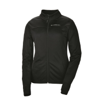 Women's Long-Sleeve Poly Tech Fleece Full-Zip Pullover with Slingshot® Logo, Black