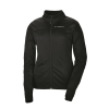 Women's Long-Sleeve Poly Tech Fleece Full-Zip Pullover with Slingshot® Logo, Black - Image 1 of 2