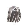 Unisex Long-Sleeve Off-Road Riding Jersey with Mesh Ventilated Panels, Gray - Image 1 of 2