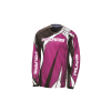 Unisex Long-Sleeve Off-Road Riding Jersey with Mesh Ventilated Panels, Pink - Image 1 of 2