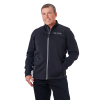 Men's Full-Zip Mid Layer Jacket with Gray Logo, Black - Image 1 of 1