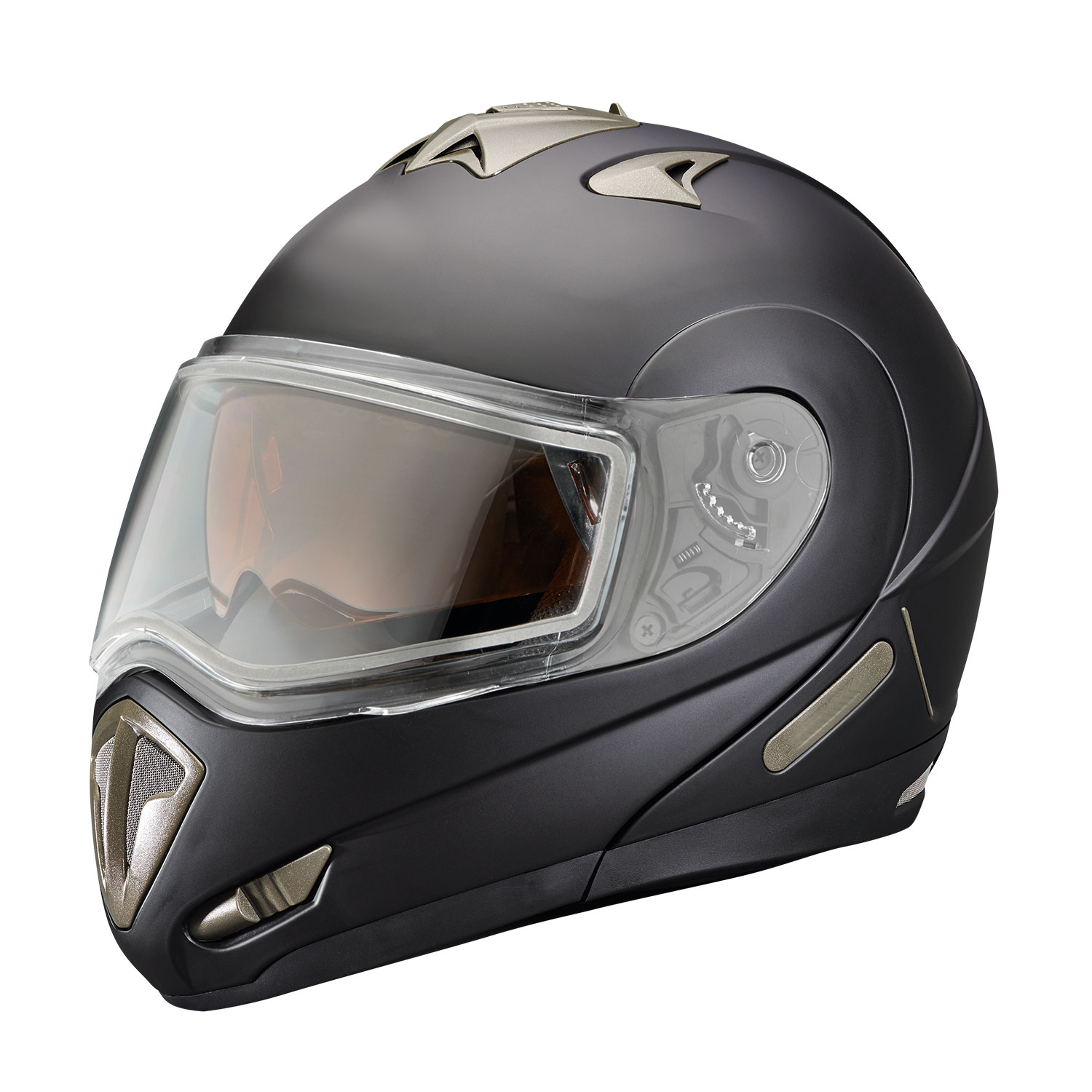 Modular 1.0 Adult Helmet with Dual-Pane Shield, Black Matte