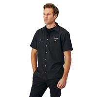 Men's Short-Sleeve Tech Pit Shirt with Logo, Black