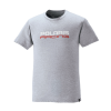 Men's Short-Sleeve Race Tee with Logo, Gray - Image 1 of 2
