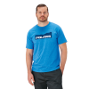 Men's Short-Sleeve Mountain-Scape Graphic Tee with Logo, Royal Heather - Image 1 de 1