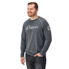Men's Long-Sleeve Retro Graphic Tee with Logo, Gray - Image 1 of 5