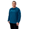 Men's Long-Sleeve Retro Graphic Tee with Logo, Navy - Image 1 of 1