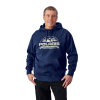 Men's Roseau Hoodie with Logo, Navy Heather - Image 1 of 4