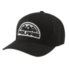 Unisex (L/XL) Flexfit Hat with Mountain Scape Logo Patch, Black - Image 1 de 2
