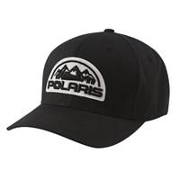 Unisex (L/XL) Flexfit Hat with Mountain Scape Logo Patch, Black