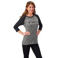 Women's Baseball 3/4 Sleeve Tee - Gray
