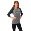 Women's 3/4 Sleeve Graphic T-Shirt with Logo, Gray - Image 1 of 2