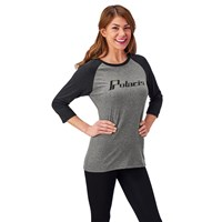 Women's 3/4 Sleeve Graphic T-Shirt with Logo, Gray