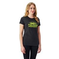 Women's Roseau Graphic T-Shirt with Polaris® Logo, Black