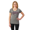 Women's Graphic T-Shirt with Script Polaris® Logo, Gray - Image 1 de 1