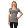 Women's Graphic T-Shirt with Script Polaris® Logo, Gray - Image 1 of 1