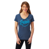 Women's Graphic T-Shirt with Script Polaris® Logo, Navy - Image 1 de 2