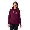Women's Retro Hoodie Sweatshirt with Polaris® Logo, Berry - Image 1 of 1