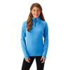 Women's Long-Sleeve Quarter-Zip Pullover with Navy Polaris® Logo, Marina Blue - Image 1 of 2