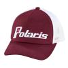 Women's Adjustable Mesh Snapback Hat with Retro White Logo, Berry - Image 1 de 3
