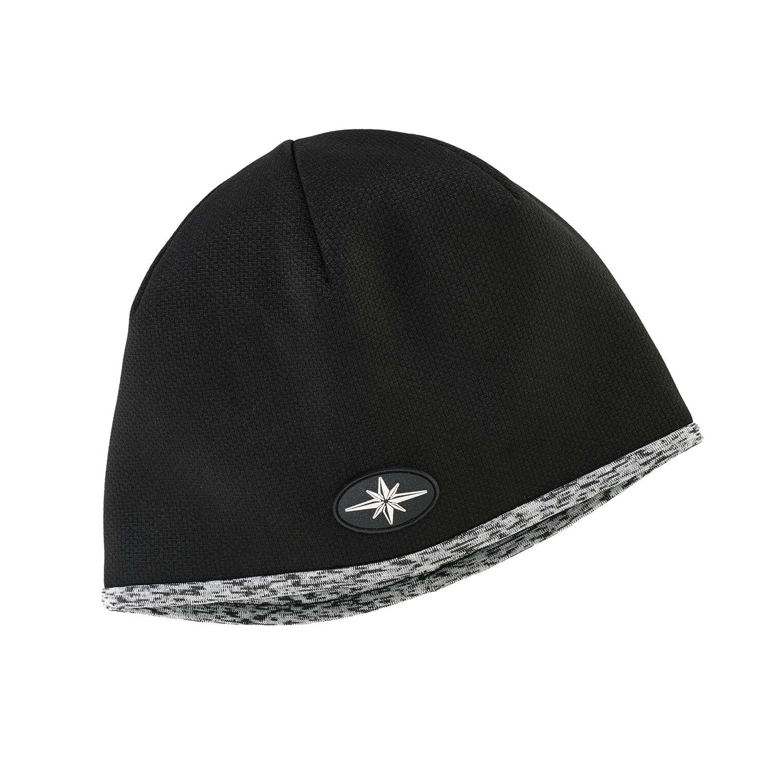 Men's Tech Mesh Beanie with Ellipse, Black