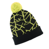 Men's Shattered Cuff Beanie with Polaris® Logo, Lime - Image 2 de 3