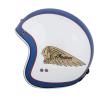 Two Tone Retro Open Face Helmet, Blue/White - Image 1 de 13