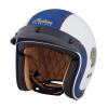 Two Tone Retro Open Face Helmet, Blue/White - Image 2 de 13